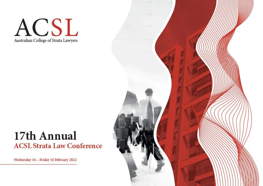 17th Annual ACSL Strata Law Conference 2022
